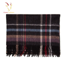 2017 Winter 100% Cashmere Plaid Scarf Inner Mongolia