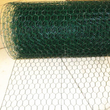 Green pvc coated hexagonal galvanized chicken wire mesh