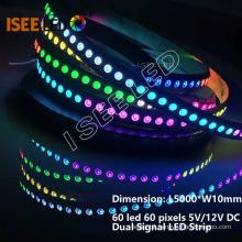 12V Pixel LED Strip Pixel to Pixel Programmable