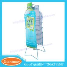 6 camadas de cesta de metal azul mostrador de exposição destacável para promoção