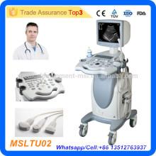 Factory Direct volle Digital Trolley Ultraschall Maschine / 2d Ultraschall / Schwarz-Weiß-Ultraschall-Maschine für Schwangerschaft-MSLTU02