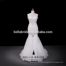 2016 best-seller vestido de casamento vestido de trompete loja online