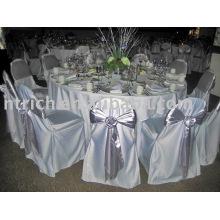 Couverture de chaise de satin, couverture de chaise de banquet/hôtel, ceinture en satin