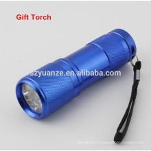 Lampe de poche étanche à l'eau, réflecteur à lampe LED, mini lampe de poche