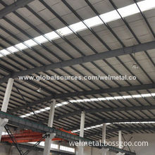 Steel Warehouse Roof, Prefabricated and Customized Designs Available