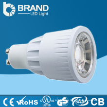 240V alta potencia 7w brillante brillante COB Gu10 Dimmable caliente blanco 3000K LED Spotlight