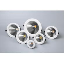 Luminária embutida COB redonda LED