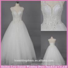 WD6029 Tela de qualidade boa qualidade de exportação artesanal de cetim e vestido de casamento de tule Vestido de noiva do casamento do casamento sweetheart 2015