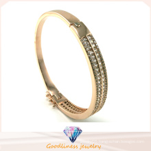 Wholesale 925 Silver Bangle Bracelet with White Stone 925 Silver Fashion Jewelry (G41249)