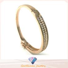 Atacado 925 pulseira pulseira de prata com pedra branca 925 jóias de moda de prata (g41249)