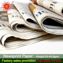 Zeitungspapier in Rollen für den Verkauf