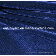 100% poliéster Decoración Flocado Tejido de tela para Sofá Set Diseños