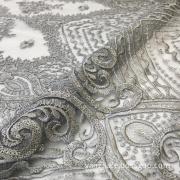 Gray Shine Sequin Flower Embroidery Fabrics