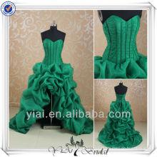 RSE156 Sweetheart Decote Boned Corset Ruffles Saia Short Front Long Back Prom Dress