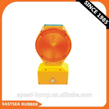 Yellow & Red Polycarbonate Plastic Solar Powered Flashing Safety Road Barricade Light