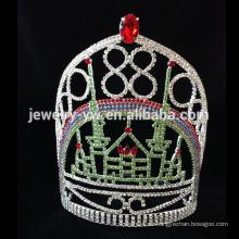 Nuevos tiaras / corona cristalinos nupciales de la boda de la perla de la venta al por mayor de la manera de la llegada
