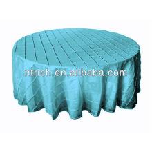 encantador del pintuck novia mesa redonda/cuadrada, turquesa pintuck mesa cubierta del paño