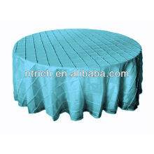 charmante couverture de table pintuck pintuck mariage taffetas table ronde/carrée tissu, turquoise