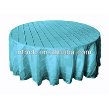 Taffeta table cloth elegance, pintuck table cloth for wedding and banquet