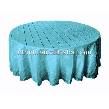 charmante couverture de table pintuck pintuck mariage taffetas table ronde/carrée tissu, turquoise