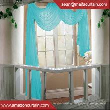 Los últimos diseños de cortina 2015 Sólido Voile Sheer Custom color Ventana Valance