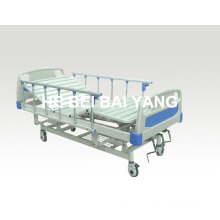 (A-42) Movable Three-Function Manual Hospital Bed with ABS Bed Head
