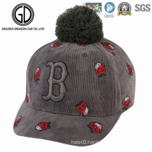 2016 New Fashion Beautiful Warm Baseball Cap with Embroidery Logo