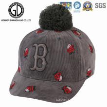 2016 boné de beisebol bonito da moda nova com logotipo do bordado