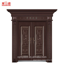 Column steel door surround
