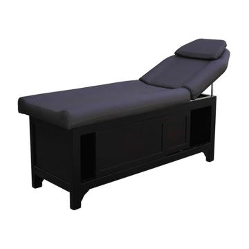 Schwarzes Holzschrank Kopfteil Bett