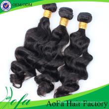 Extension de cheveux humains brésiliens Remy de cheveux vierges de la catégorie 7A / 8A de vague de corps