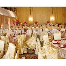 Cubierta de la silla del satén, cubierta de la silla de banquete/del hotel/de la boda, marco de la silla