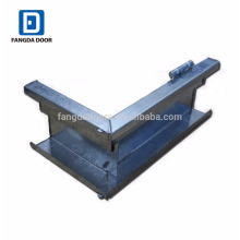 steel door frame with rubber seal