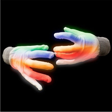 European Led White Flashing Glowing Gloves
