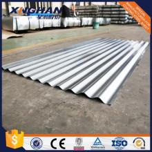 Hoja de acero corrugado galvanizado recubierto de zinc