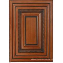 Porta de armário de cozinha de madeira sólida (HLsw-4)