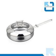 2016 Nuevo diseño 304 18/8 de acero inoxidable Fry Pan utensilios de pan