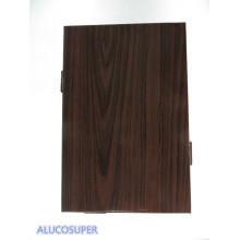 Folha de alumínio sólido revestido de madeira usada para o rosto de Buliding
