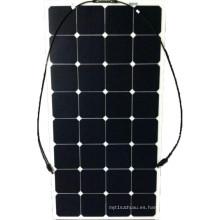 Alta eficiencia Sunpower monocelular semi flexible panel solar de 100W