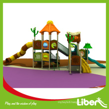 Preschool Outdoor Plastic Slide with GS certificate approved Factory Price LE-YG052