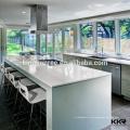 Bancada de cozinha de pedra de quartzo artificial pré-fabricada