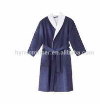 High quality turkish cotton and terry heated bathrobe with band