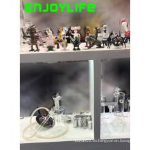 Pipas de vidrio de Enjoylife, tubo de agua de cristal que fuma con envío rápido