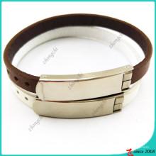 Коричневый кожаный браслет с пряжкой для украшения человека (LB16041949)