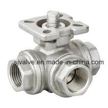 3 способ шариковый Клапан нержавеющей стали с CE (valvula де бола)