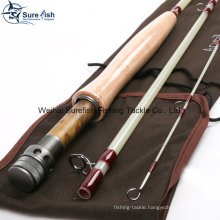 Free Shipping Custom Translucent Fiberglass Fly Fishing Rod