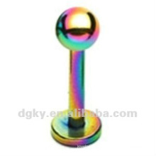 Regenbogen Titan Labret Lippe Ring Körper piercing Schmuck