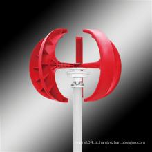 Tipo lanterna vermelha - turbina eólica de eixo vertical