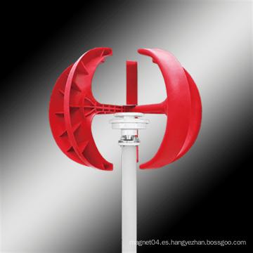 Turbina eólica de eje vertical tipo linterna roja
