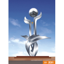Modern Large Stainless steel Arts Abstract sculpture for Outdoor decoration